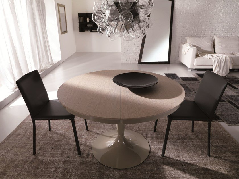 Round wooden table ECLIPSE LEGNO by Ozzio Italia