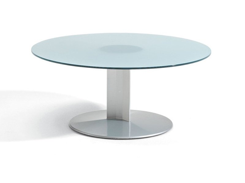 Round glass coffee table PEANA | Round coffee table by ACTIU