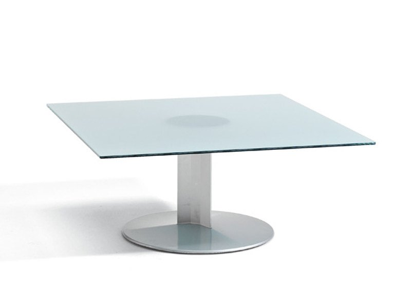 Square glass coffee table PEANA   Square coffee table by ACTIU
