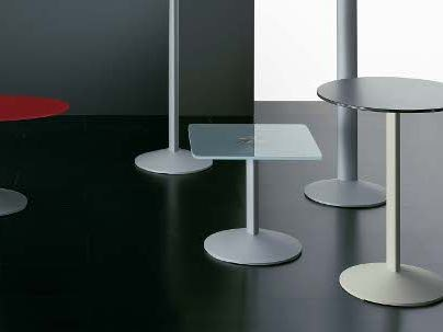 Square tempered glass coffee table ELLIPSE PE800QU by Segis