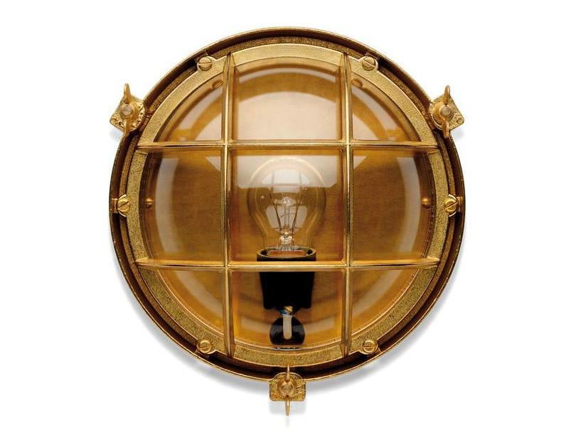 Brass Wall Lamp 100014   Screen light IP 23 plain brass by THPG