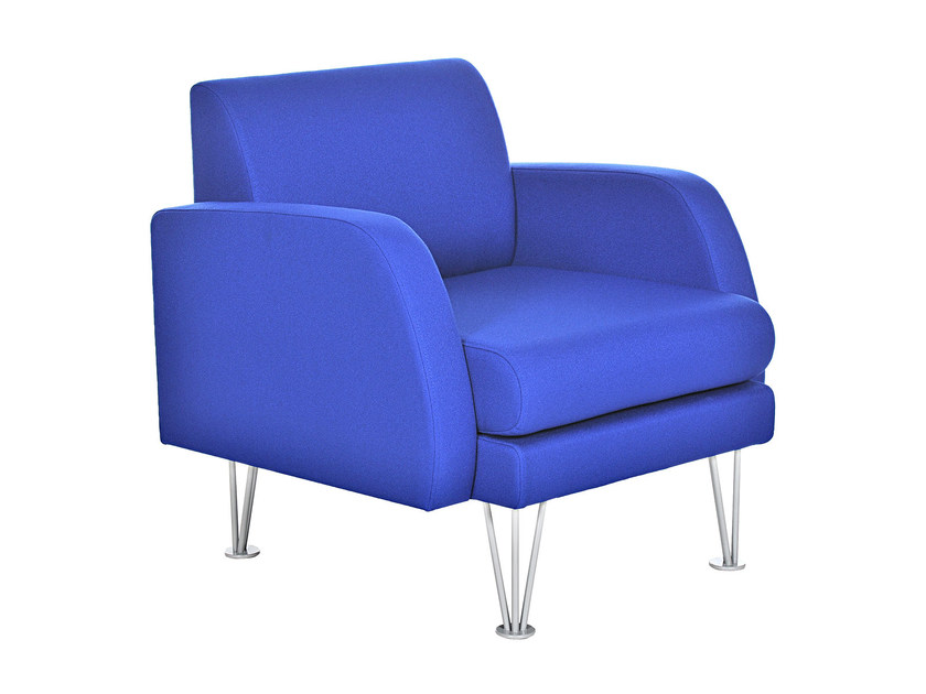 Upholstered fabric armchair with armrests ANDROMEDA | Armchair by Sedes Regia