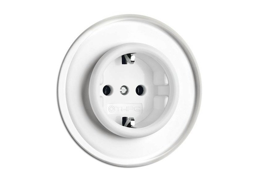 Single electrical outlet 100663 | Outlet with glass covering by THPG