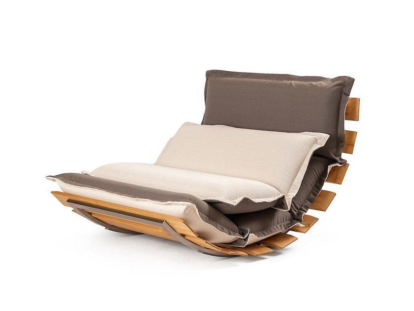 Rocking fabric garden armchair OPS! OUTDOOR by Sedes Regia