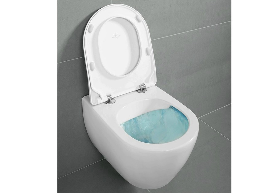 Wall-hung rimless toilet SUBWAY 2.0 DirectFlush by Villeroy & Boch