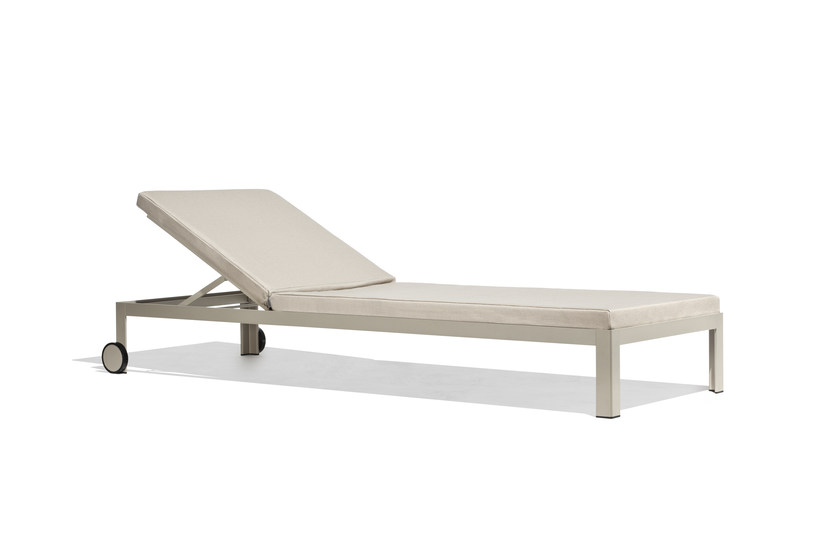 Recliner garden daybed with Casters NAK | Garden daybed with Casters by Bivaq
