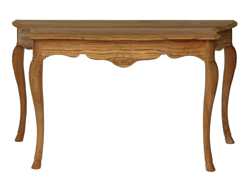 Teak garden console FLEUR DE LYS | Console table by ASTELLO
