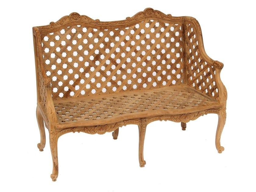 2 seater teak sofa GLYCINE | Sofa by ASTELLO