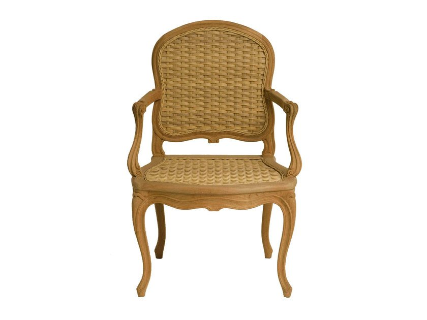 Teak garden chair with armrests JASMIN | Chair with armrests by ASTELLO