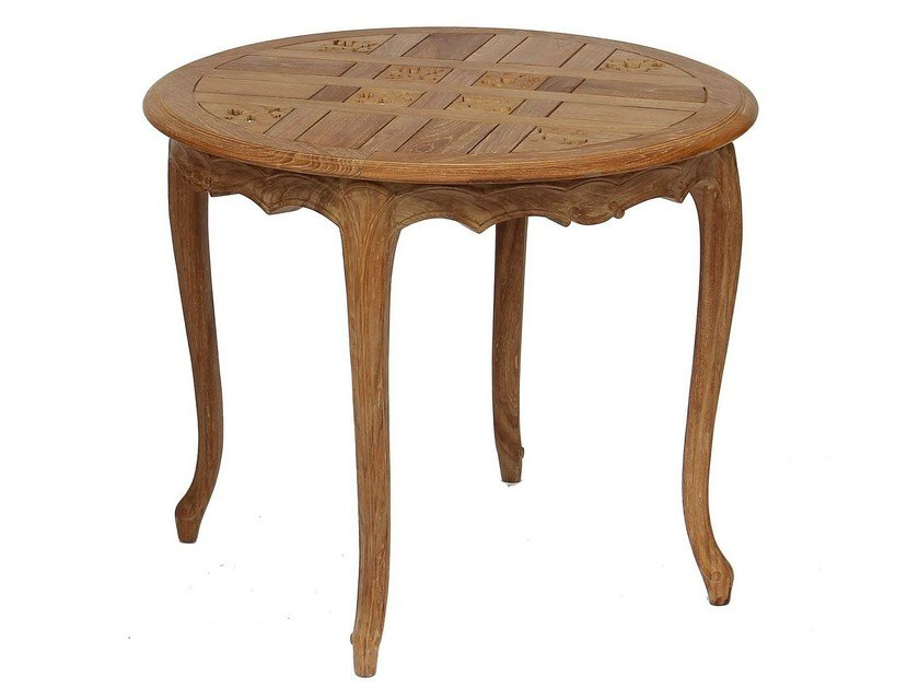 Round teak garden table JASMIN | Round table by ASTELLO
