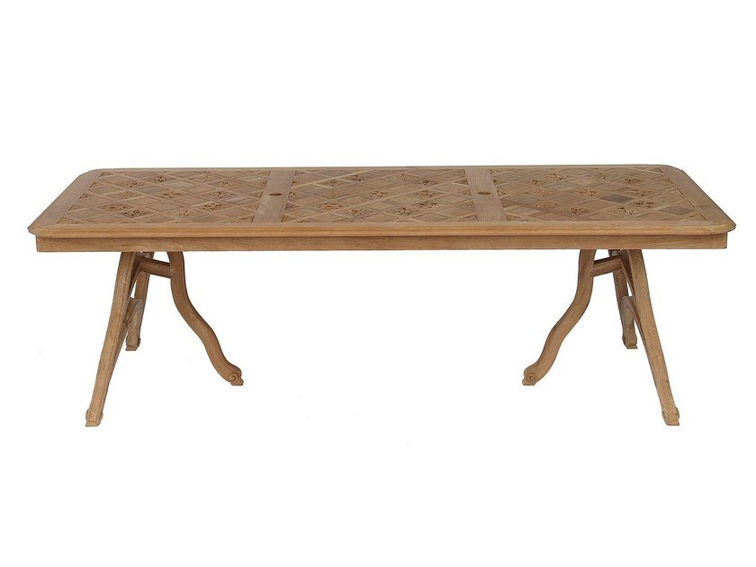 Rectangular teak garden table PASSIFLORE   Rectangular table by ASTELLO