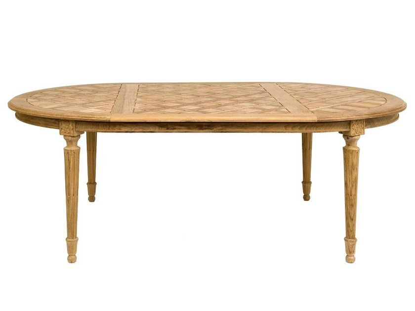 Oval teak garden table BOUTON D'OR | Oval table by ASTELLO