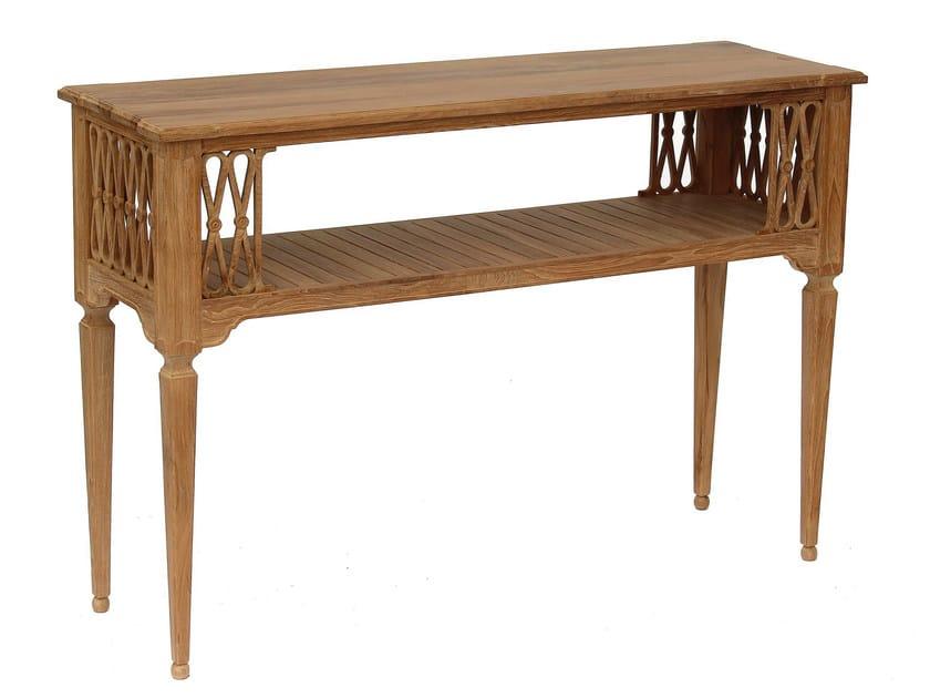 Teak garden console SERPENTINE | Console table by ASTELLO