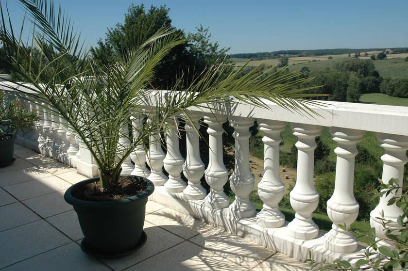 Reconstructed stone Railing WESER | Railing by Weser