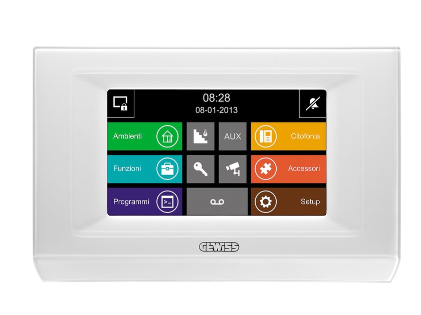 Building automation system interface NAXOS DOMO by GEWISS