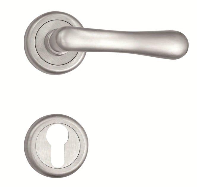Metal door handle with lock 4801 - ANJA by Enrico Cassina