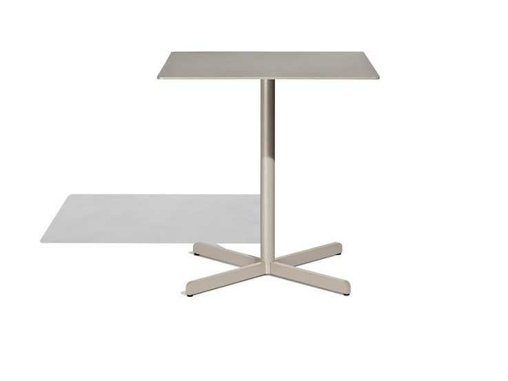 Aluminium table with 4-star base SIT   Square table by Bivaq