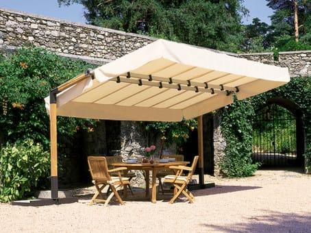 Rectangular wooden Garden umbrella CALIFORNIA WOOD by FIM