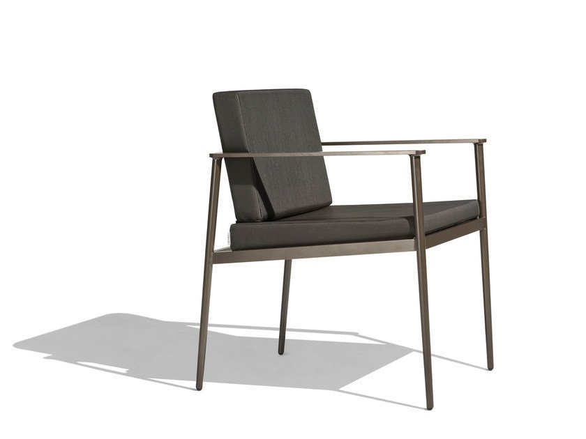 Upholstered garden chair with armrests VINT | Garden chair by Bivaq