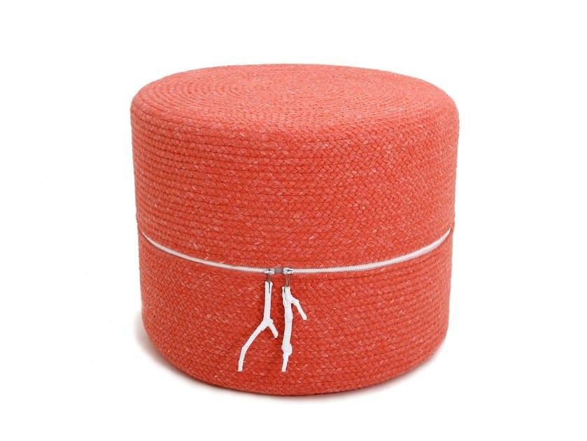 Technical fabric pouf DRUM | Pouf by Darono
