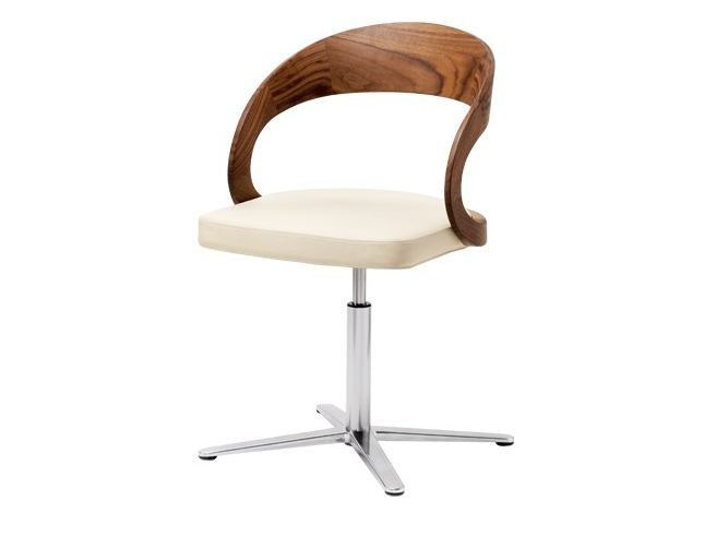 Swivel chair with 4-spoke base GIRADO | Chair with 4-spoke base by TEAM 7