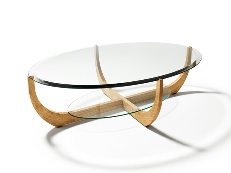 Low oval coffee table for living room JUWEL | Oval coffee table by TEAM 7