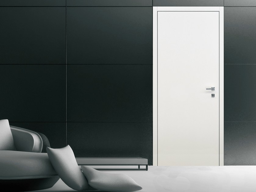 Safety door with concealed hinges FILO MOSTRINA by OMI ITALIA