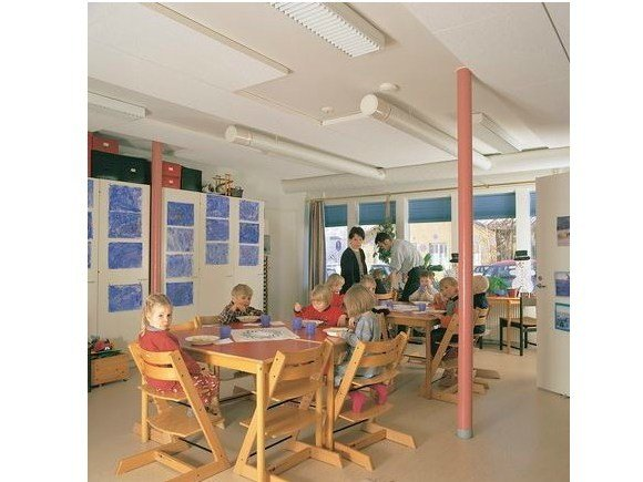 Acoustic glass wool ceiling tiles Ecophon Master™ SQ by Saint-Gobain ECOPHON