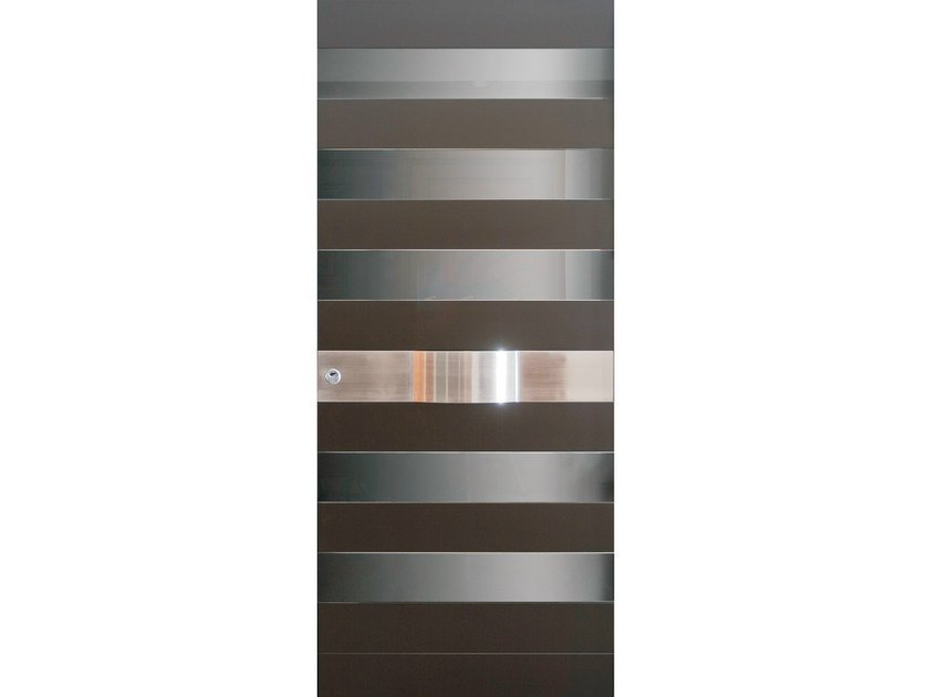 Glass and steel armoured door panel SEGNI (S702) by OMI ITALIA