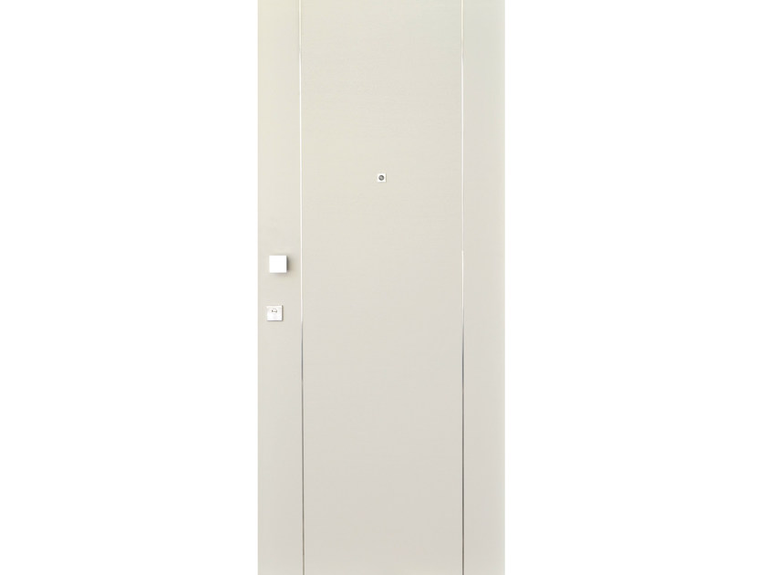 Wood veneer armoured door panel S709 by OMI ITALIA