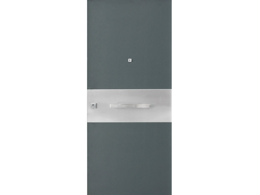 Stainless steel and wood armoured door panel S705 by OMI ITALIA