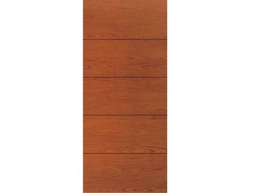 Wood veneer armoured door panel L156 by OMI ITALIA