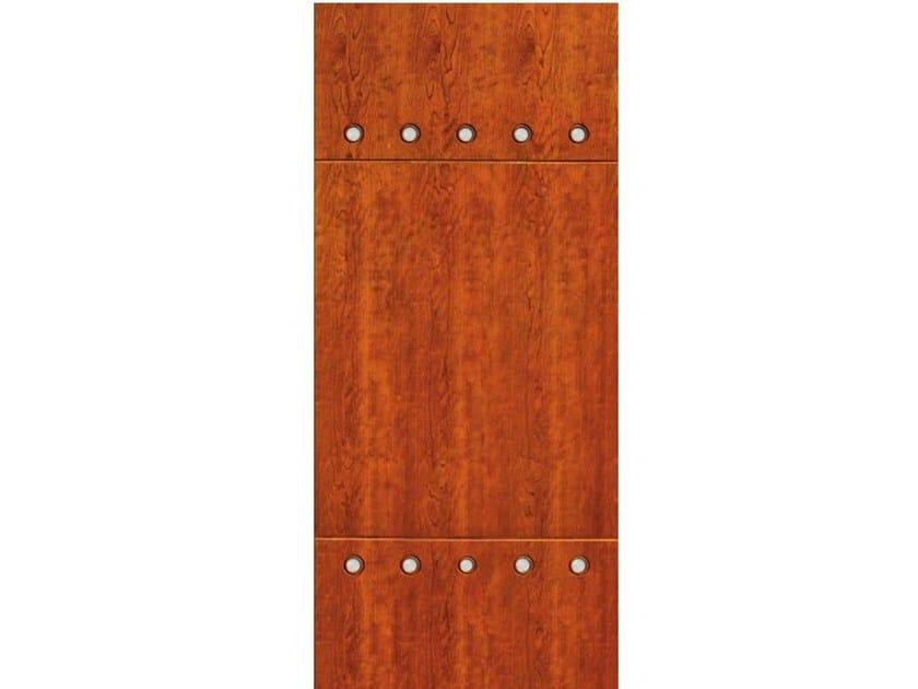Wood veneer armoured door panel PAN188 by OMI ITALIA