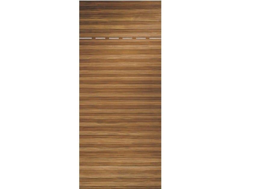 Wood veneer armoured door panel L158 by OMI ITALIA