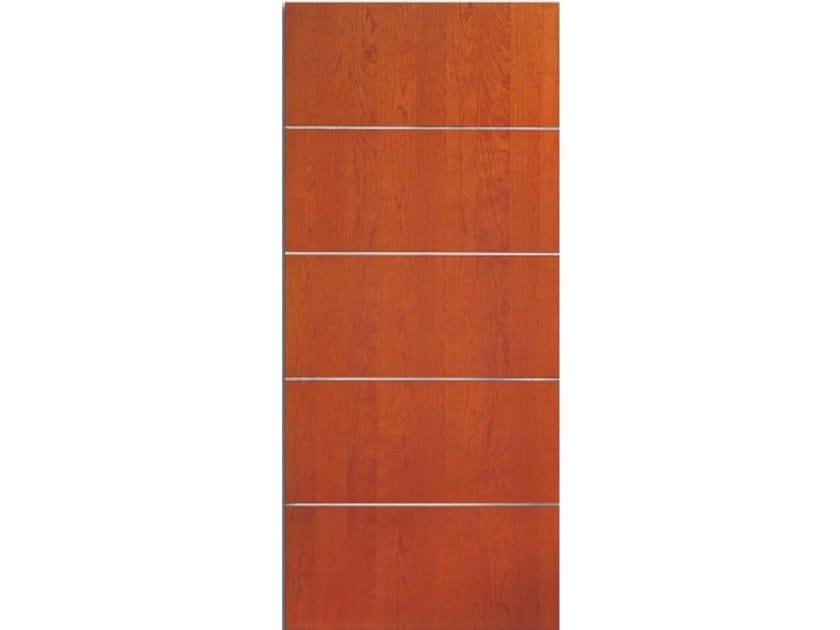 Wood veneer armoured door panel PAN165 by OMI ITALIA