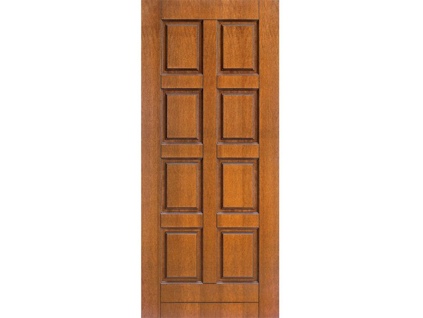 Okoumé armoured door panel PAN107 by OMI ITALIA