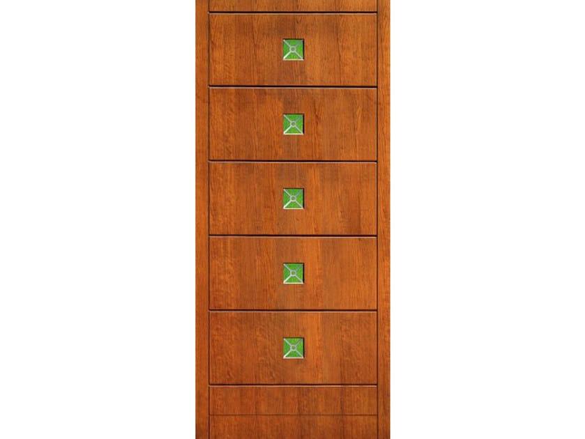 Wood veneer armoured door panel PAN180 by OMI ITALIA