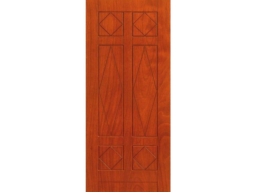 Okoumé armoured door panel PAN150 by OMI ITALIA