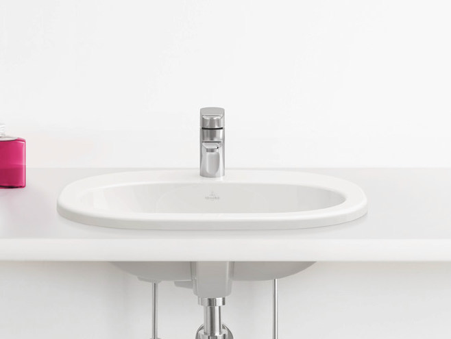 Inset ceramic washbasin O.NOVO | Inset washbasin by Villeroy & Boch