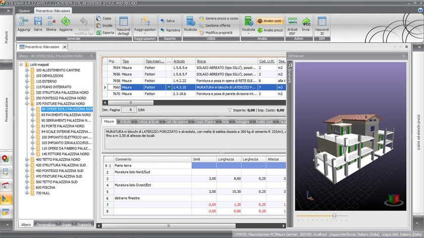 Calculation-CAD Integrated Software STR VISION BIM by TeamSystem