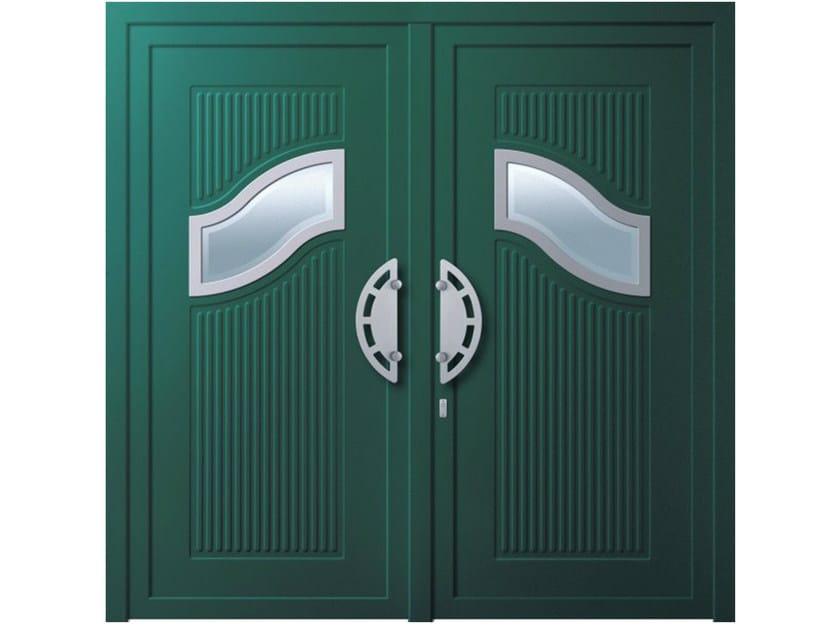 Aluminium armoured door panel GIOVE by OMI ITALIA