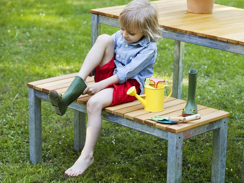Steel and wood garden bench ROBIN | Garden bench by sixay furniture