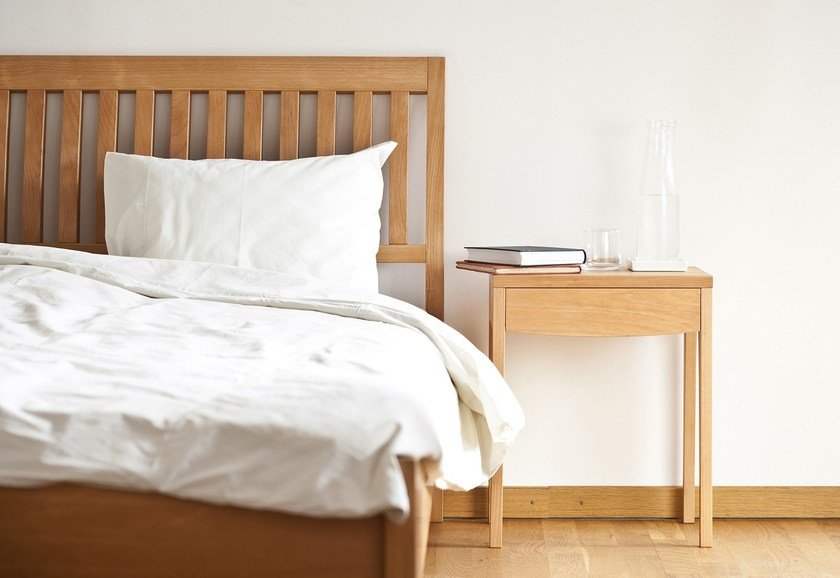 Wooden bedside table with drawers GRASSHOPPER | Bedside table by sixay furniture