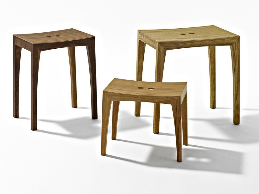 Low wooden stool OTTO3 by sixay furniture