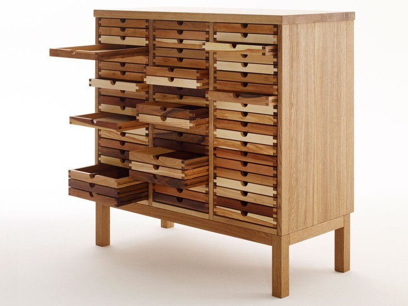 Wooden chest of drawers SIXTEMATIC | Chest of drawers by sixay furniture
