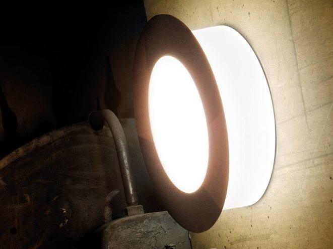 PMMA wall light CUBO TONDA 470 by Lombardo