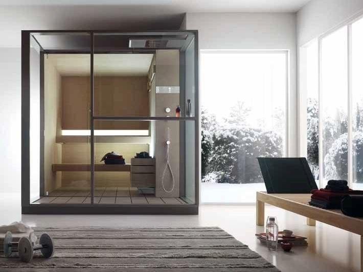 Finnish sauna with shower LOGICA S by EFFEGIBI