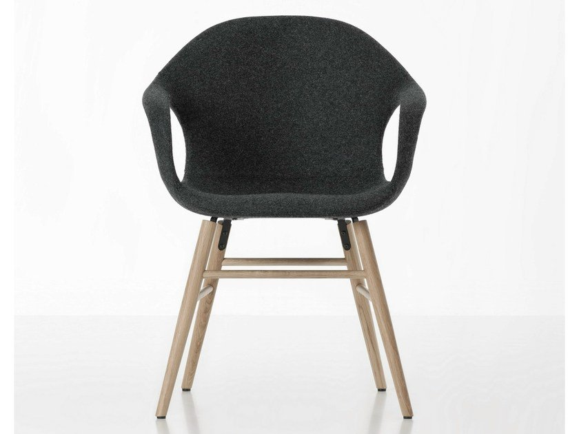 Fabric chair with armrests ELEPHANT UPHOLSTERED by Kristalia