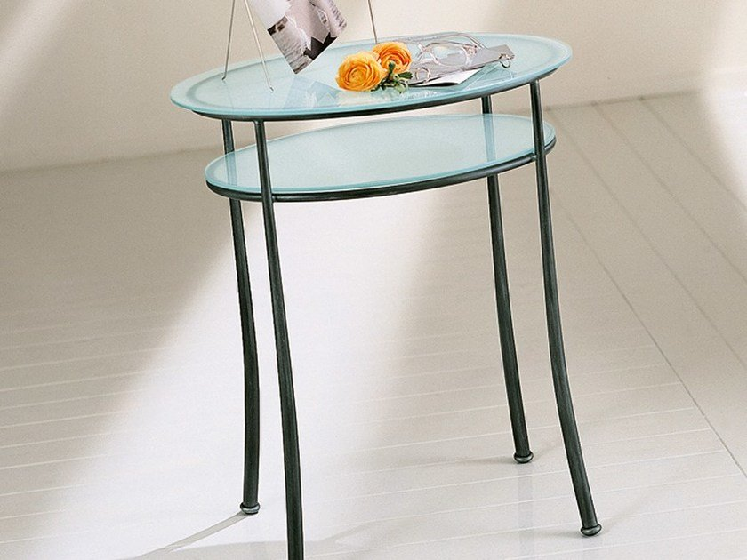 Glass coffee table / bedside table OFELIA by CIACCI