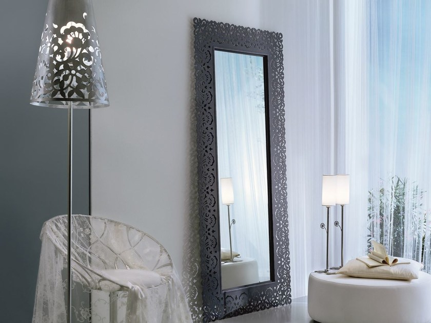 Framed freestanding rectangular mirror ARIA | Rectangular mirror by CIACCI